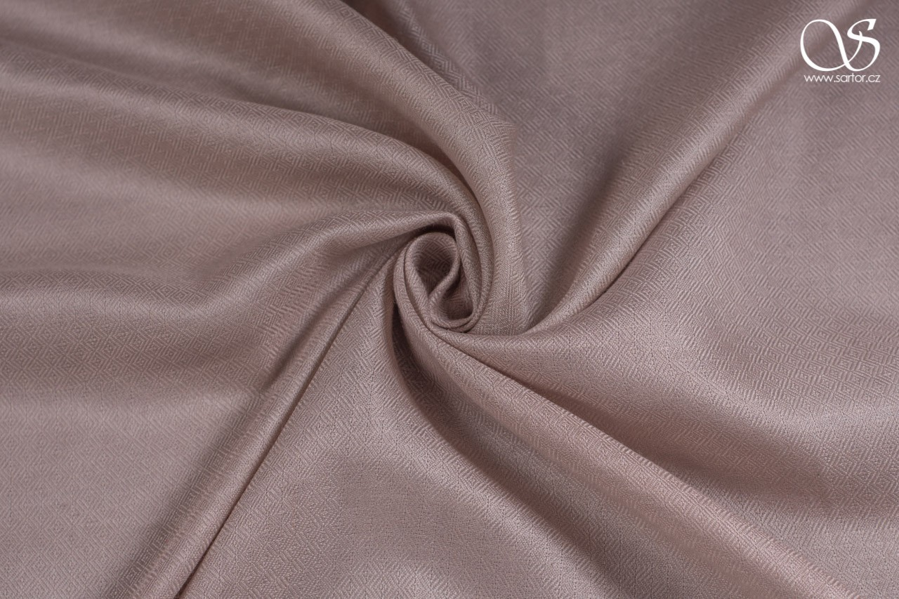 Wild eri silk, diamond, taupe