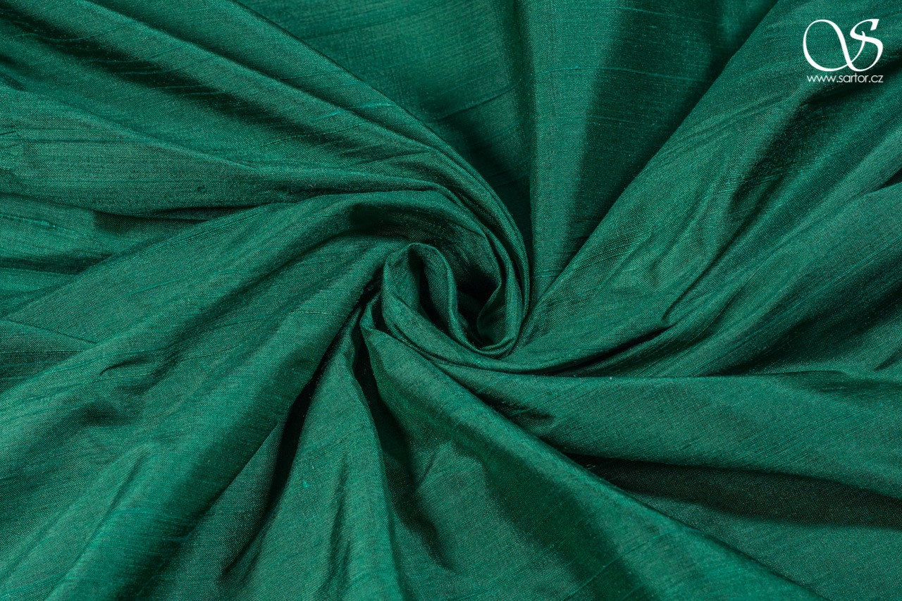 Dupioni, emerald green