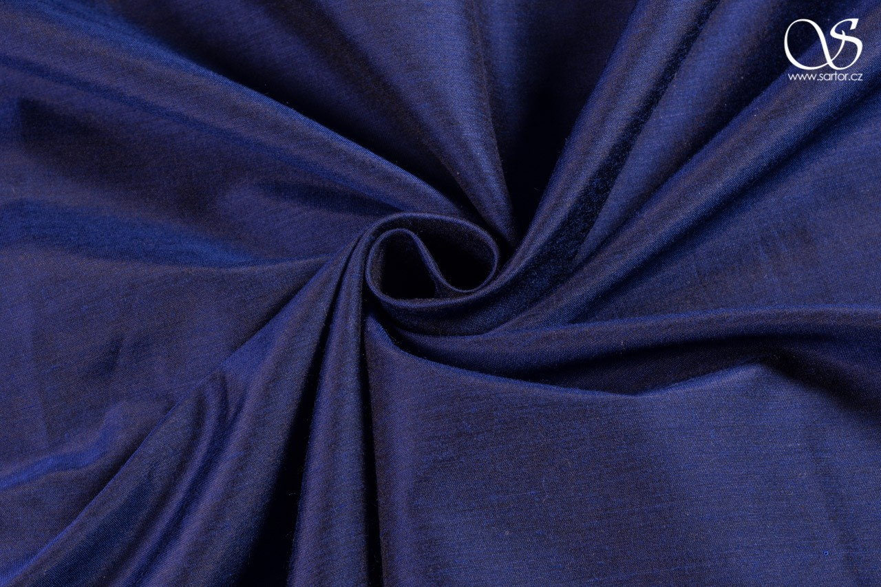 Plain silk with modal, dark blue