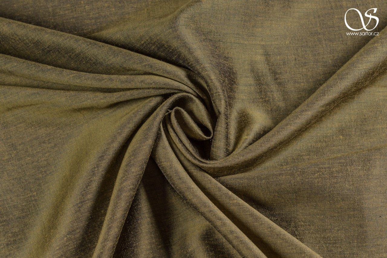 Plain silk with modal, gold