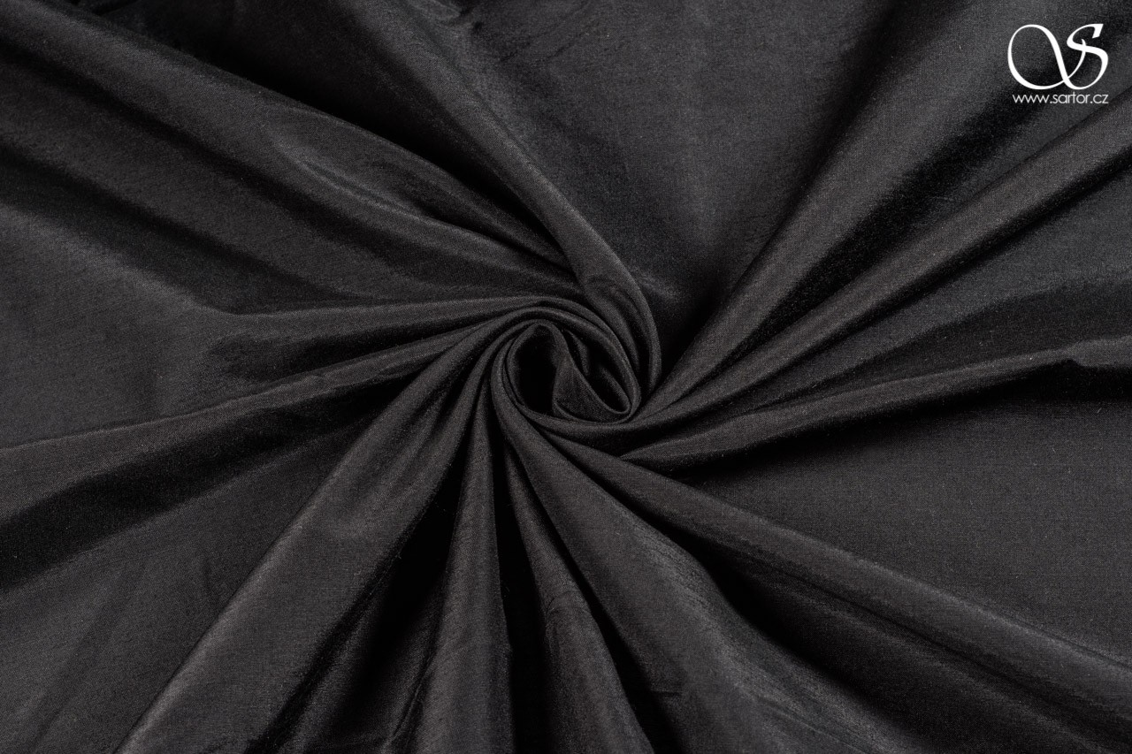 Plain silk with modal, black