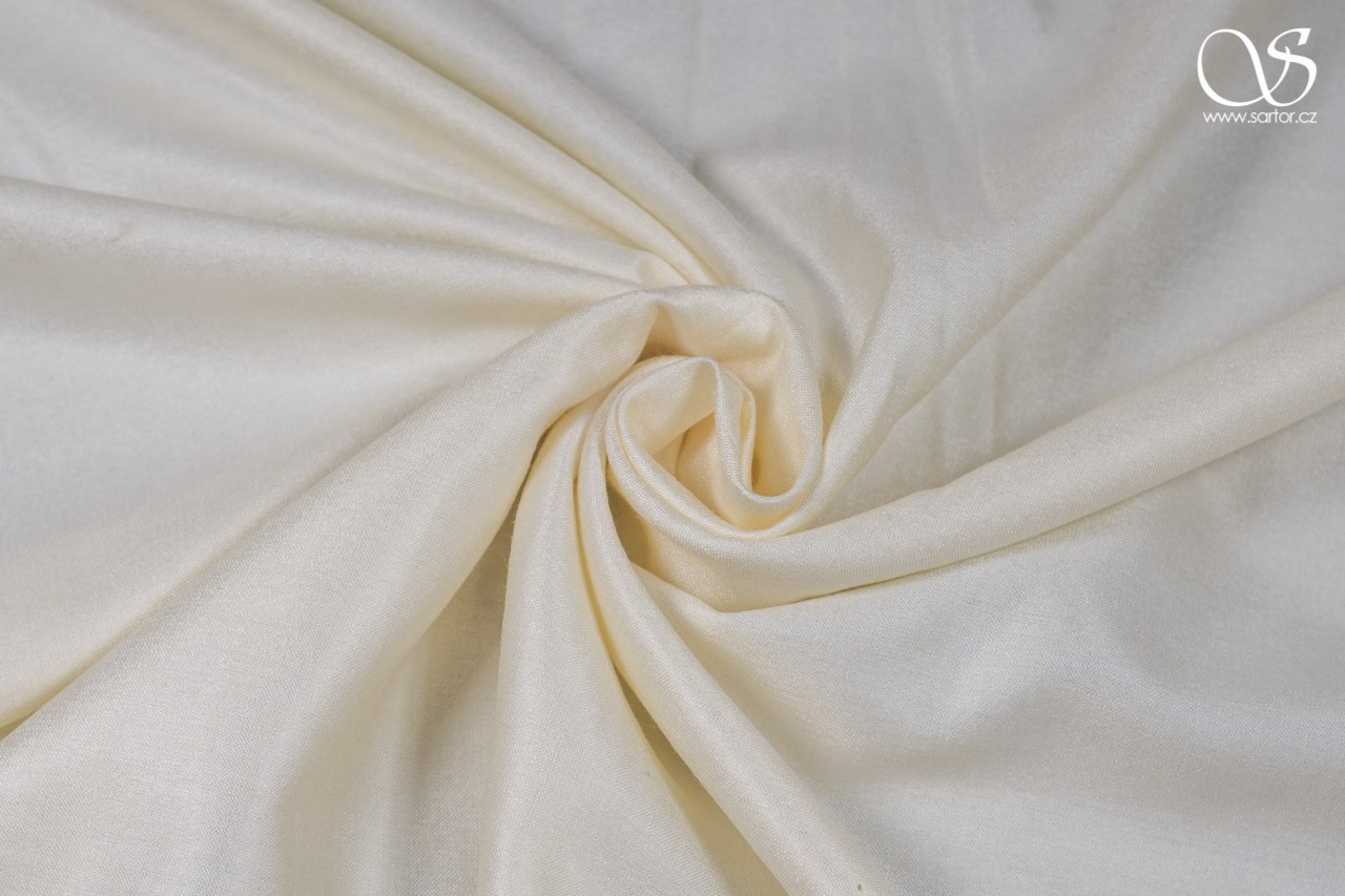 Silk with rayon, cream