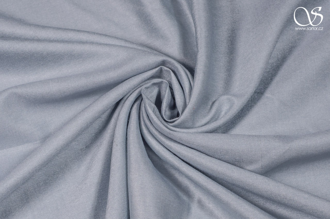 Silk with rayon, ice blue