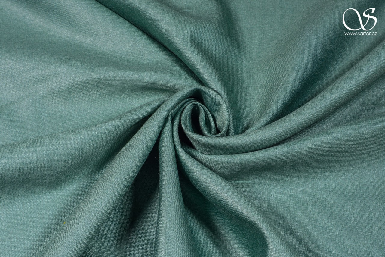 Silk with rayon, grey-green