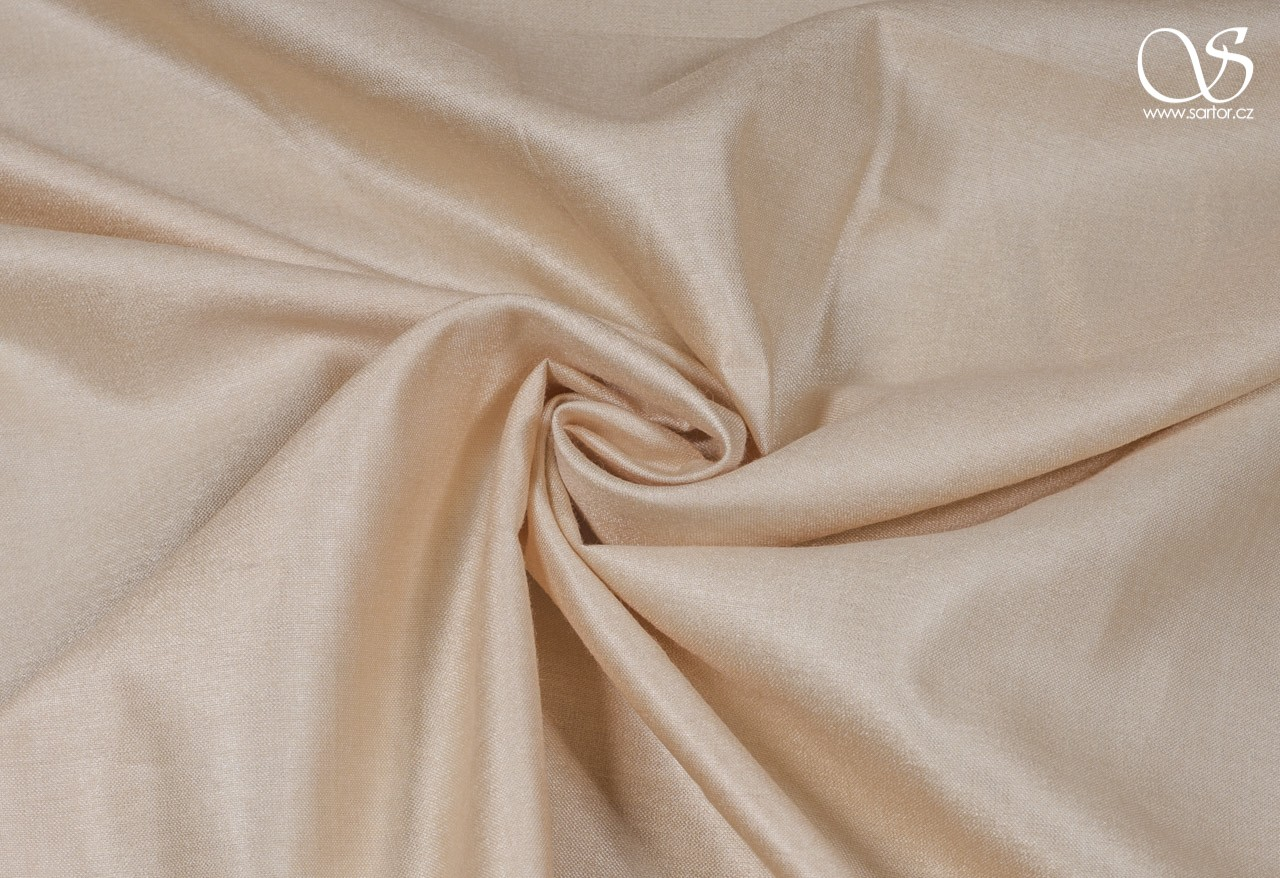 Silk with rayon, nude