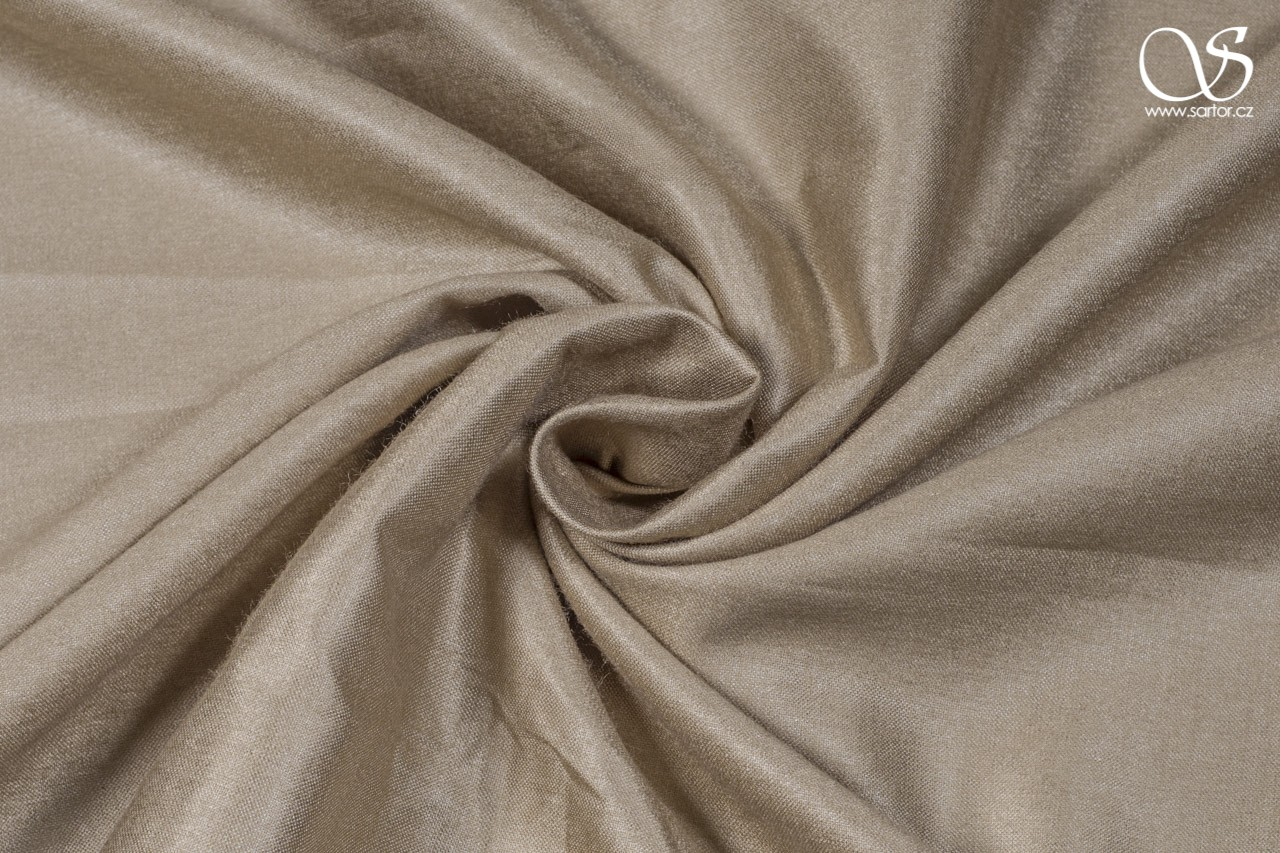 Silk with rayon, beige