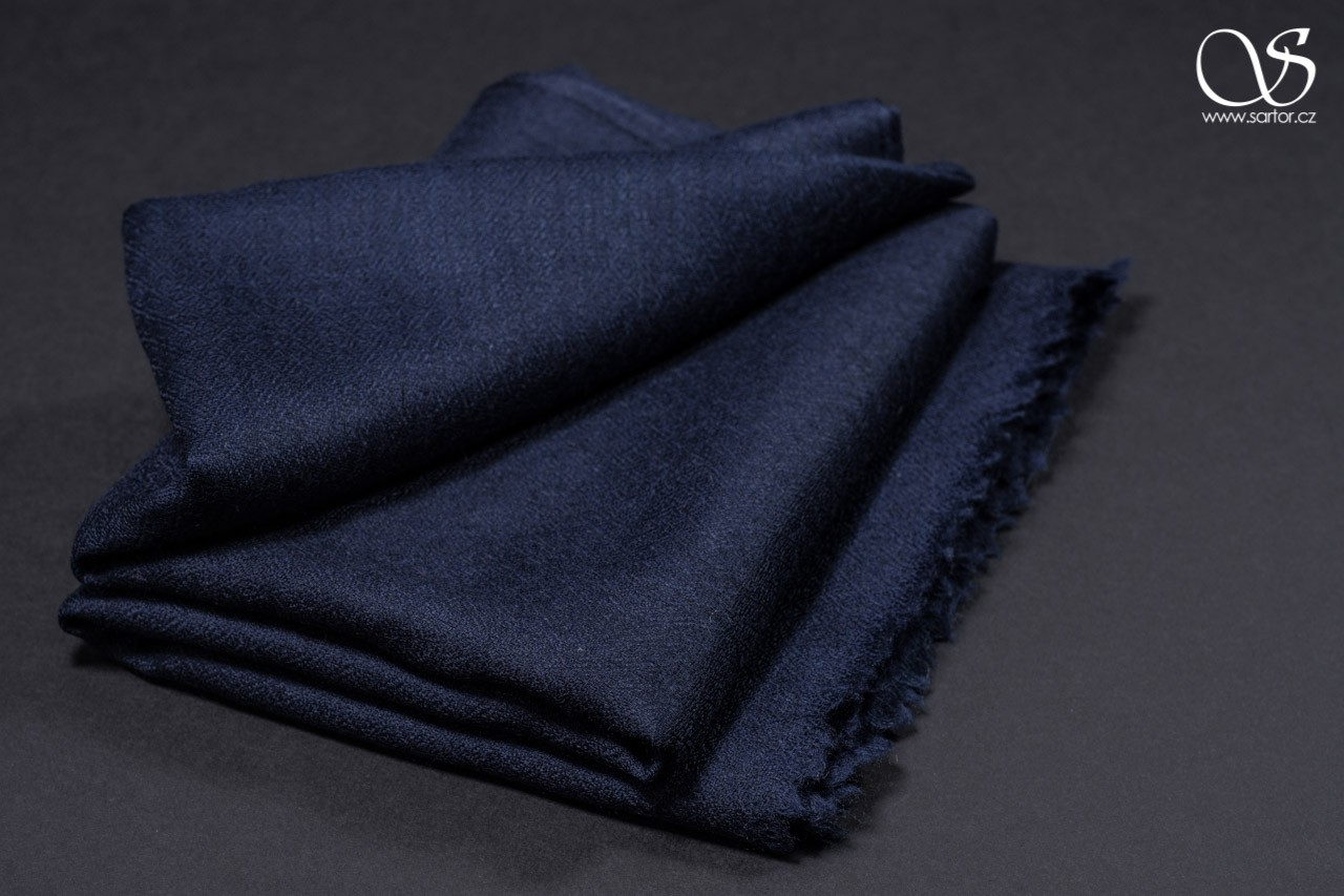 Wool Scarf w/Silk, paris blue