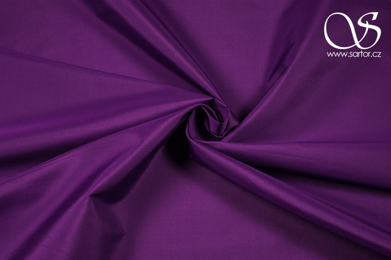 Silk Taffeta, Bright Violet, DEFECTS, 1,45m