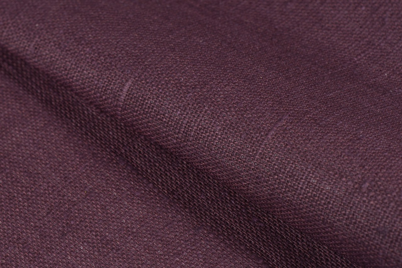 Waterproof linen, dark wine red