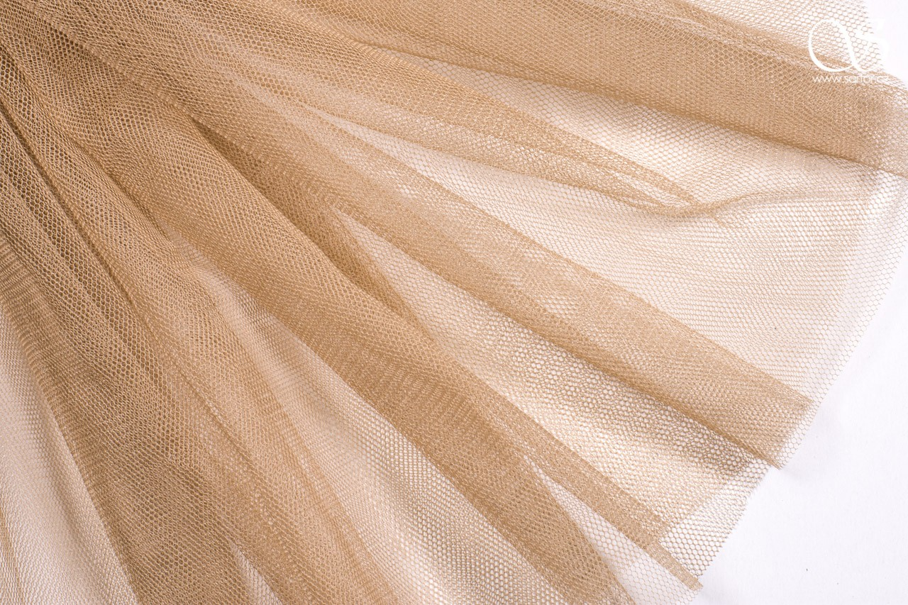 Vintage Tulle, Beige, DEFECTS, 1,4m