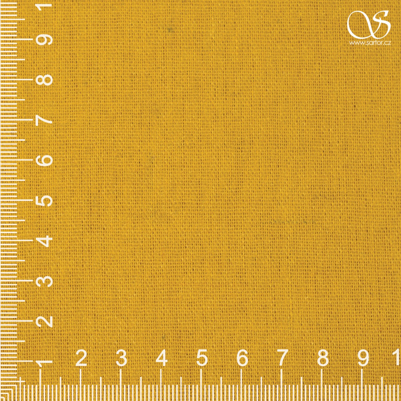 Linen with cotton, yellow
