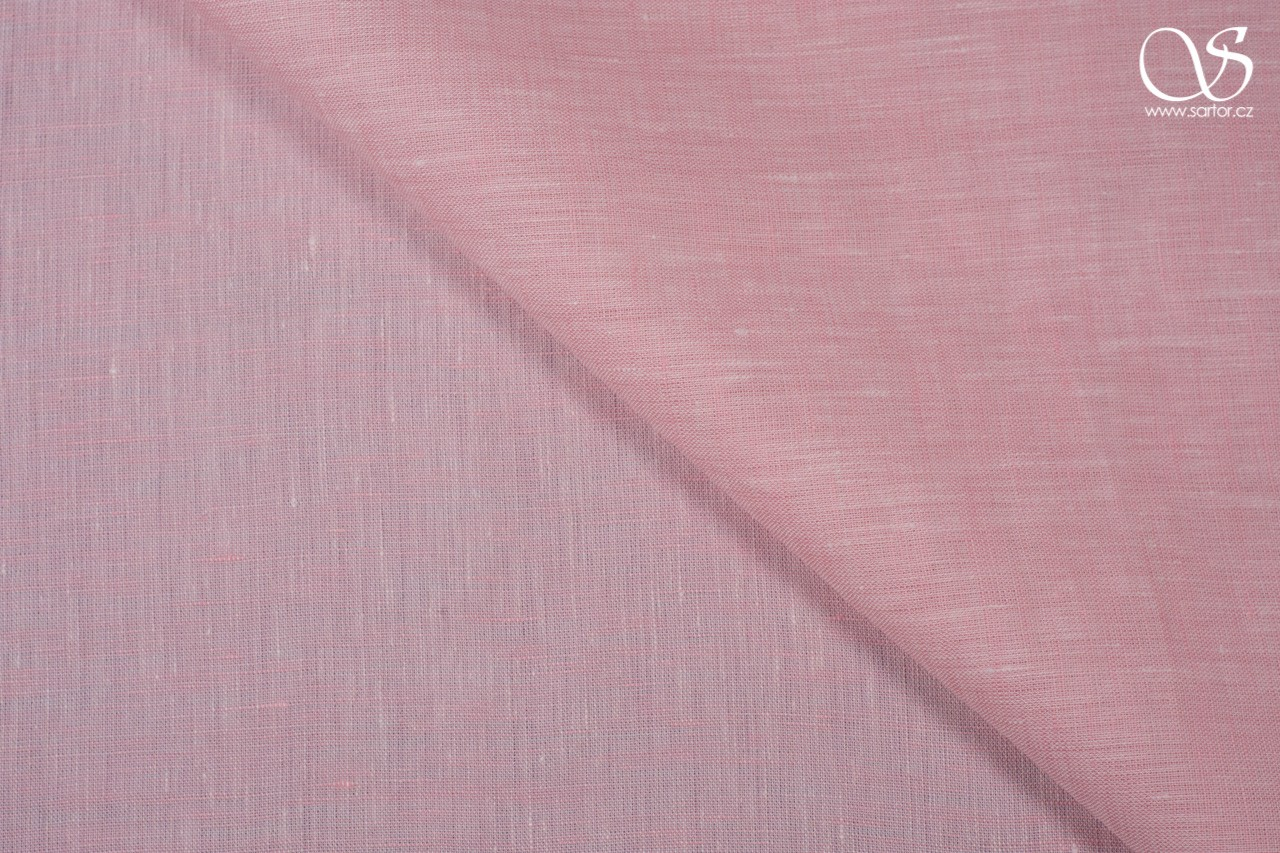 Shot fine linen, light pink