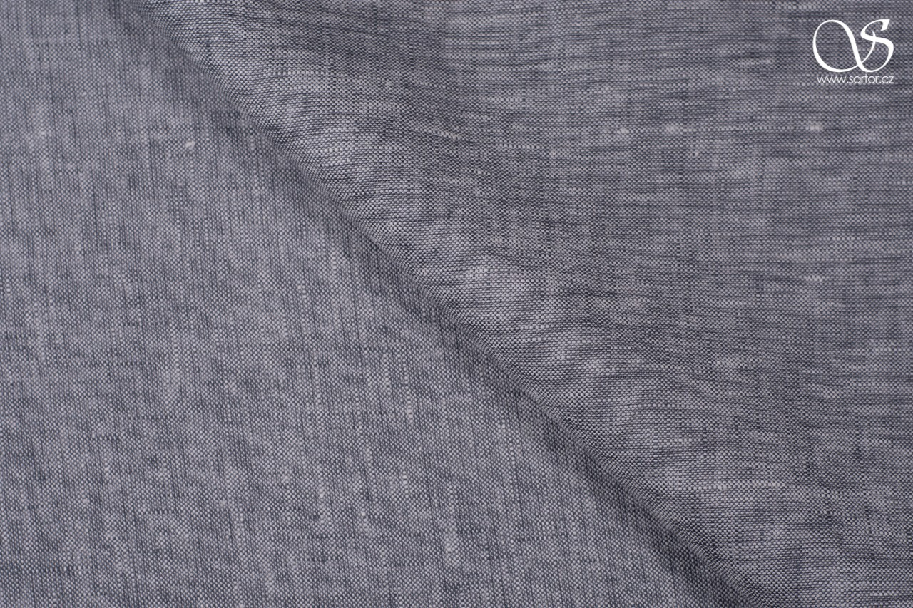 Shot linen, dark grey