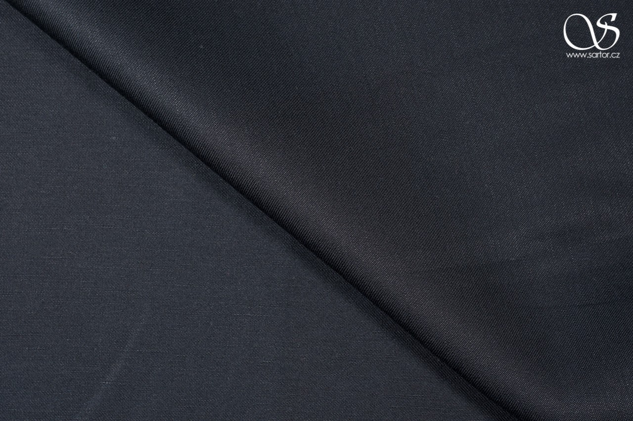 Fine twill linen, black, DEFECTS
