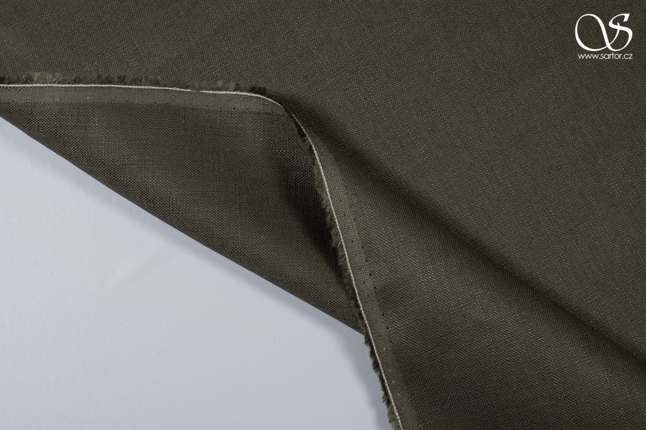 Linen, dark army green