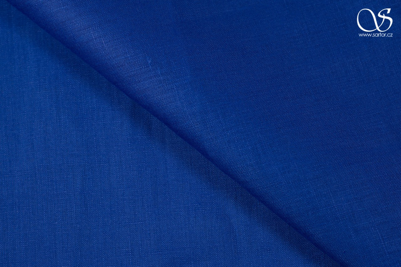 Linen, royal blue