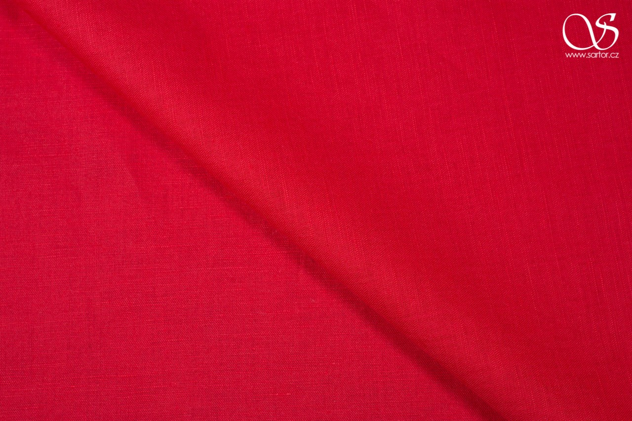 Linen, bright red