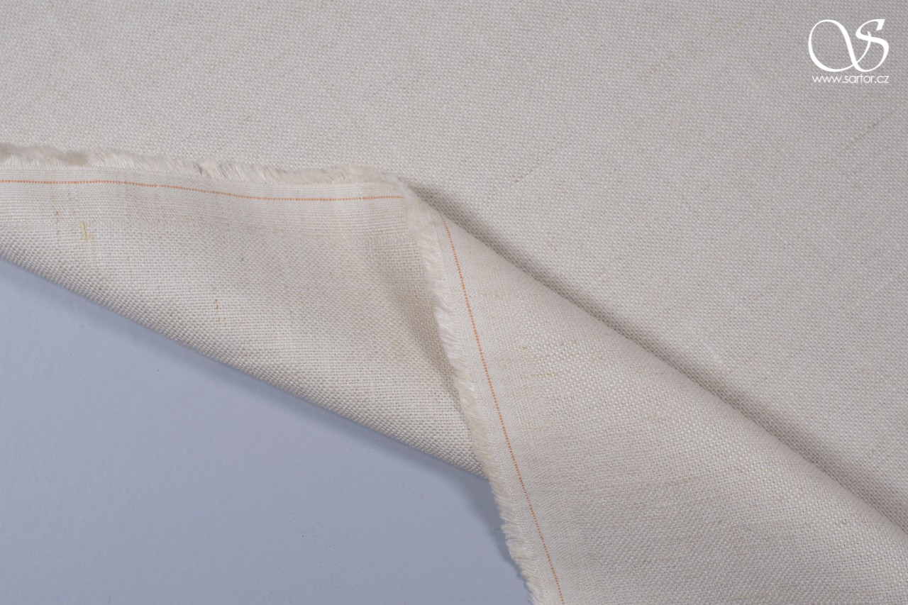 Heavy linen, cream
