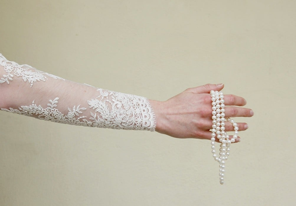 Corded Lace Claire, Ivory