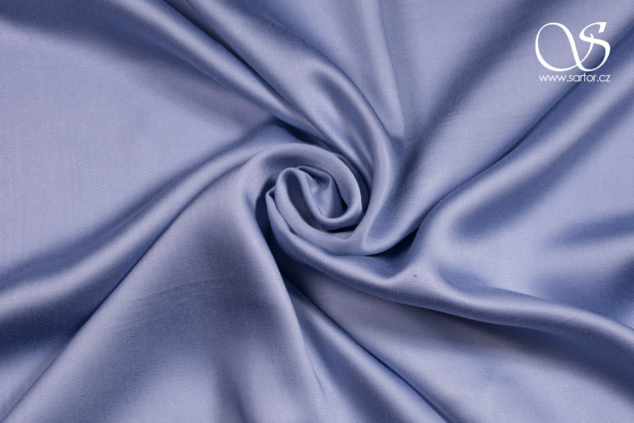 Tencel charmeuse satin, light blue, 0,4m