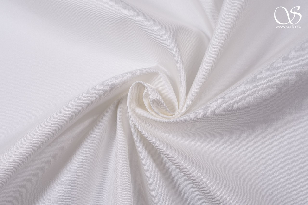 Silk serge with fused interfacing, ivory, 0,95m