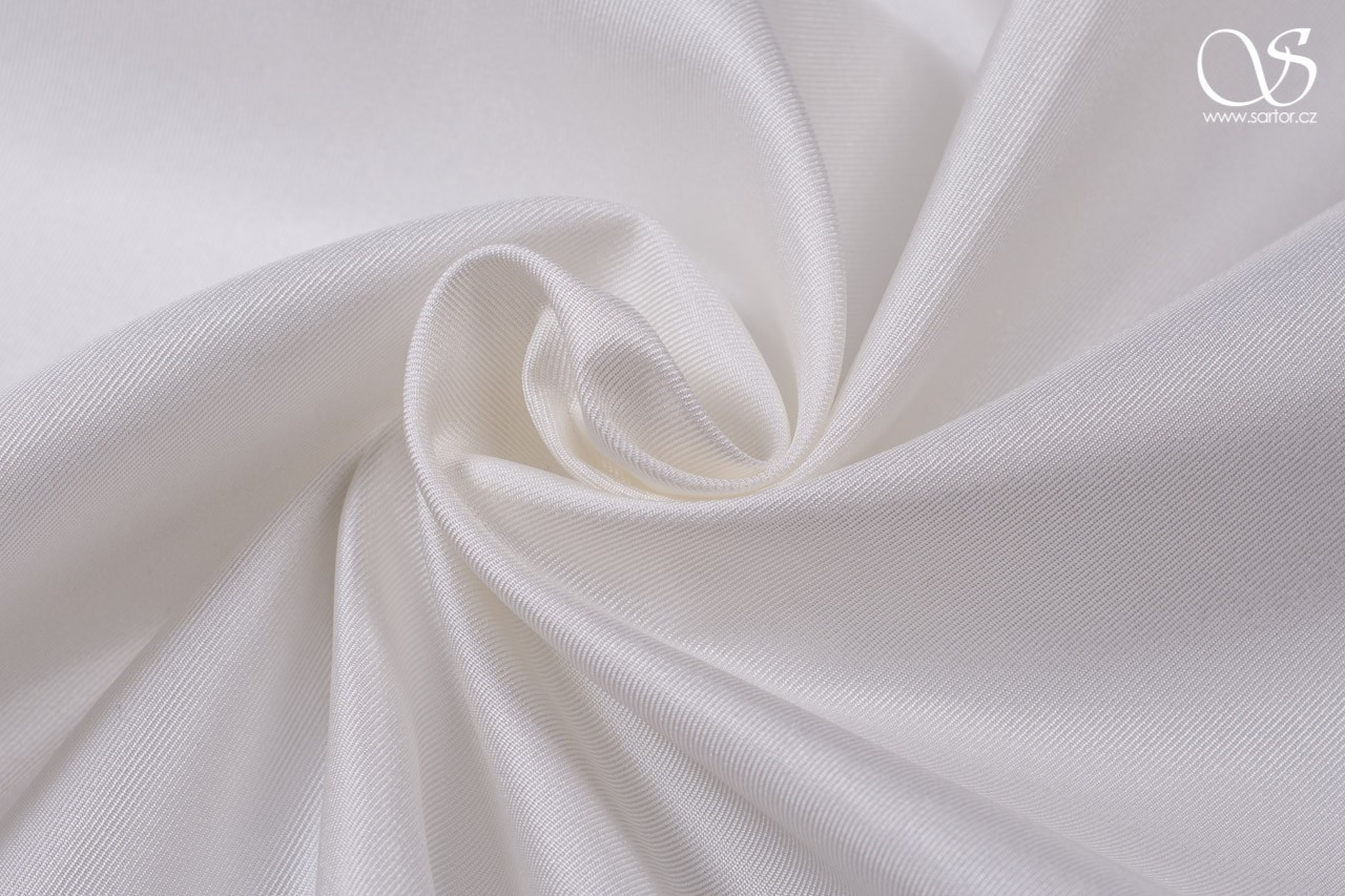 Twill with interfacing, ivory