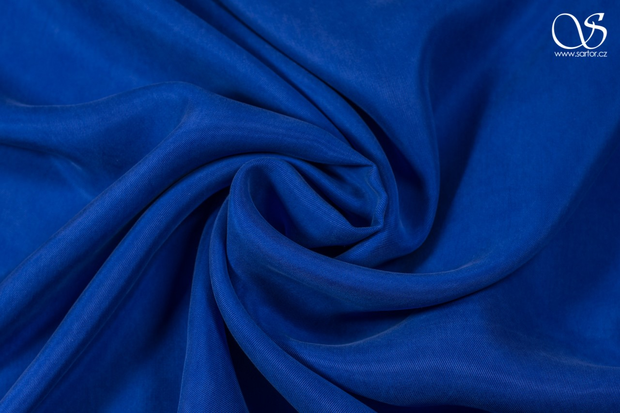 Cupro twill, royal blue
