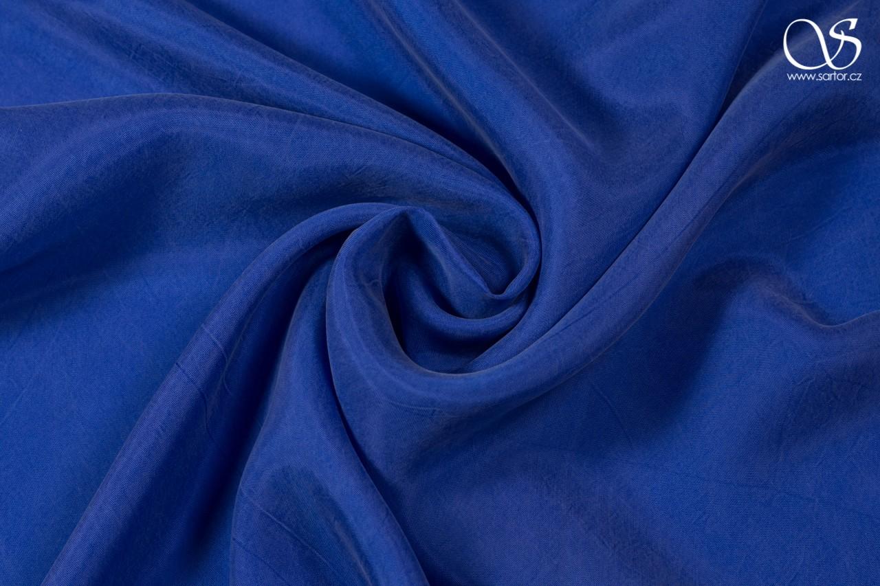 Cupro plain weave, royal blue