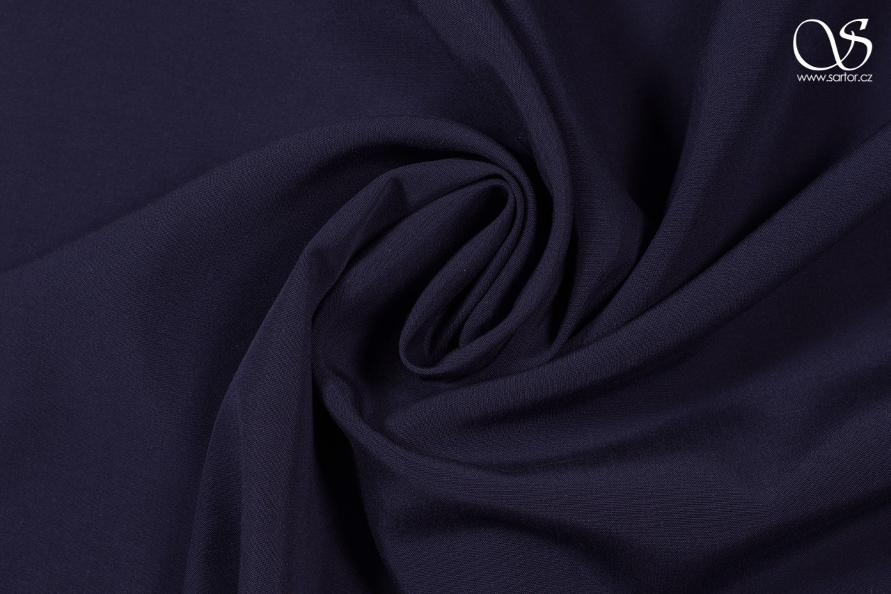Tencel plain weave, dark blue