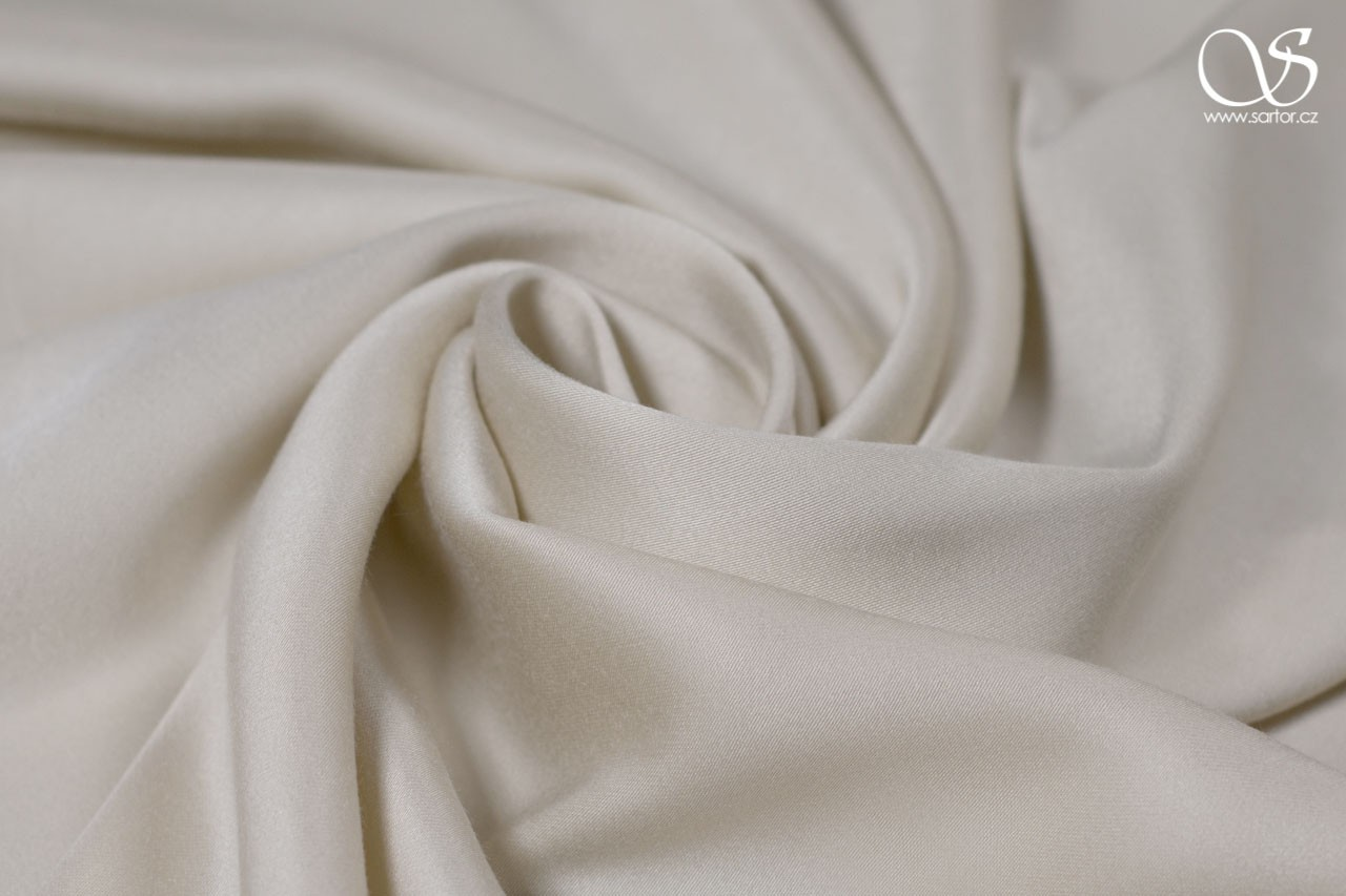 Tencel charmeuse satin, cream