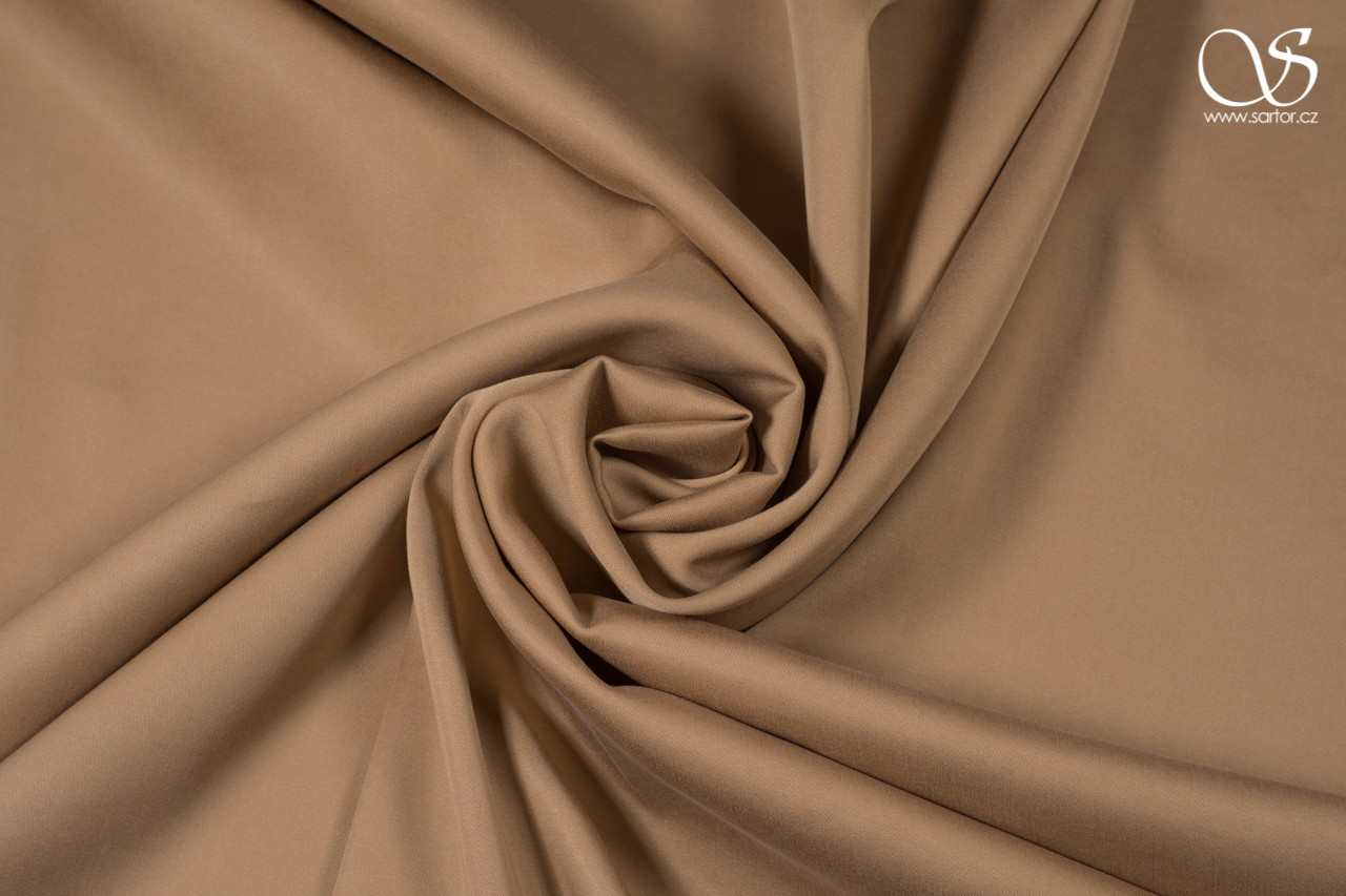 Tencel satin, dark beige