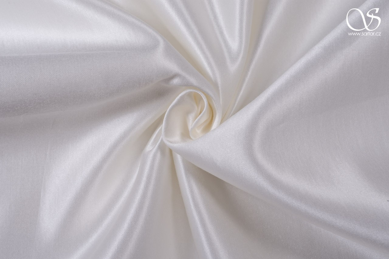 Silk blend duchesse, ivory, DEFECTS, 1,55m