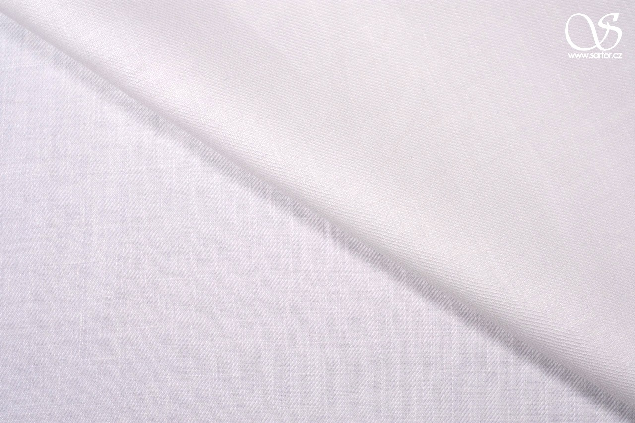 Heavy twill linen, pure white, 0,8m, DEFECTS
