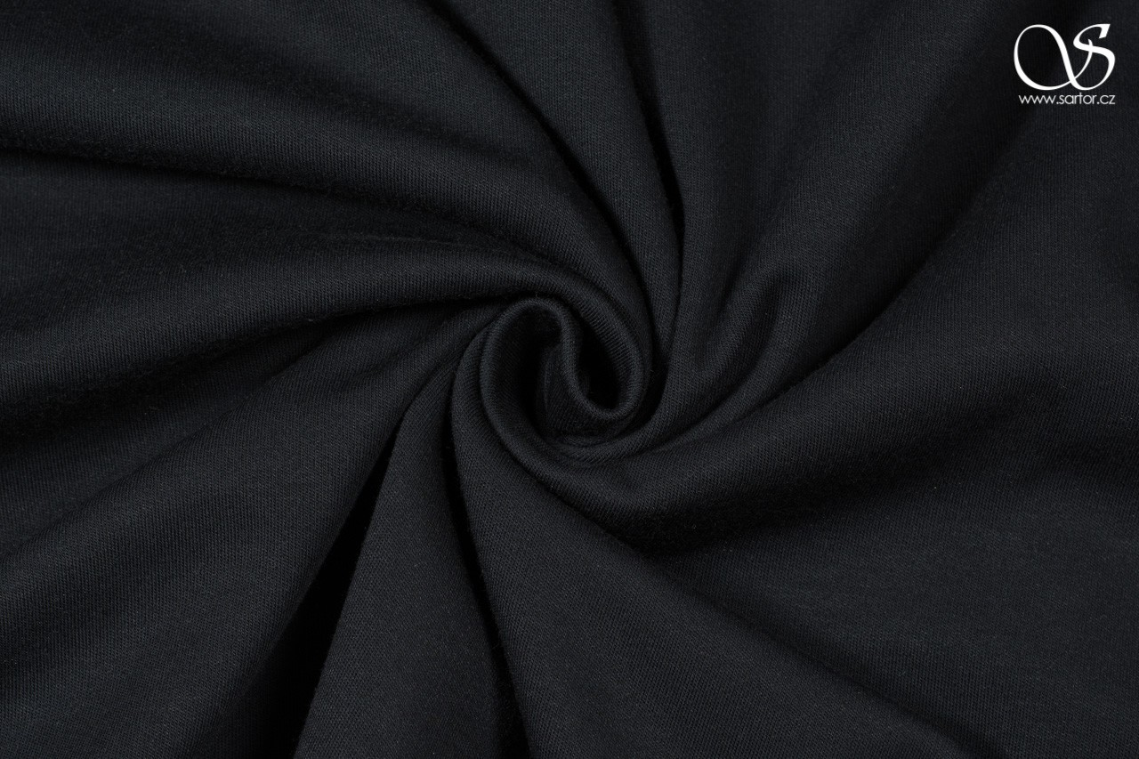 Modal brushed jersey, black