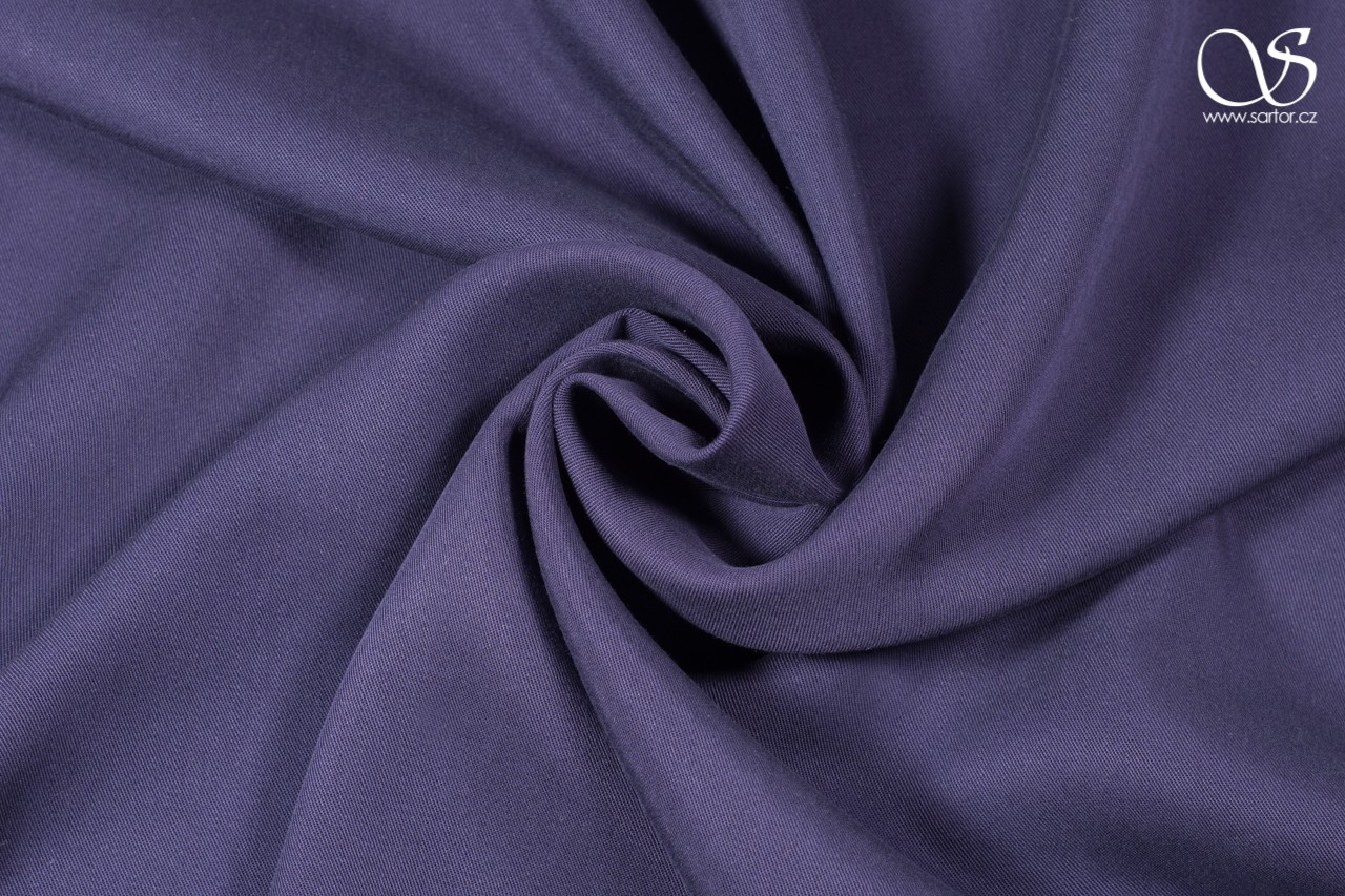 Tencel dress fabric, twill in grey-blue, 1,35m