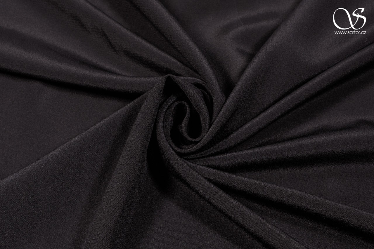 Crepe de Chine, black