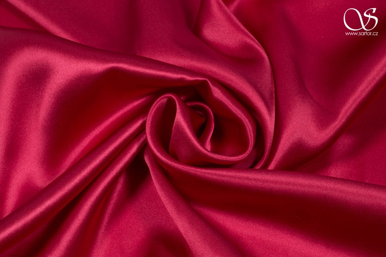Satin, raspberry red