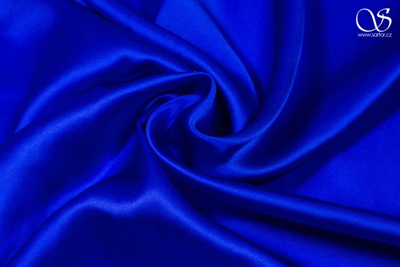 Satin, bright blue