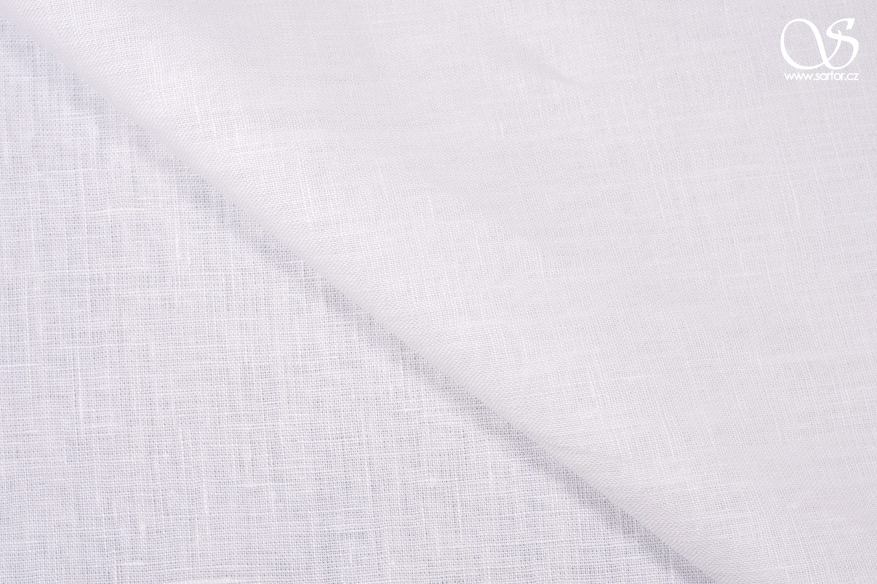 Linen, pure white, 0,95m, DEFECTS
