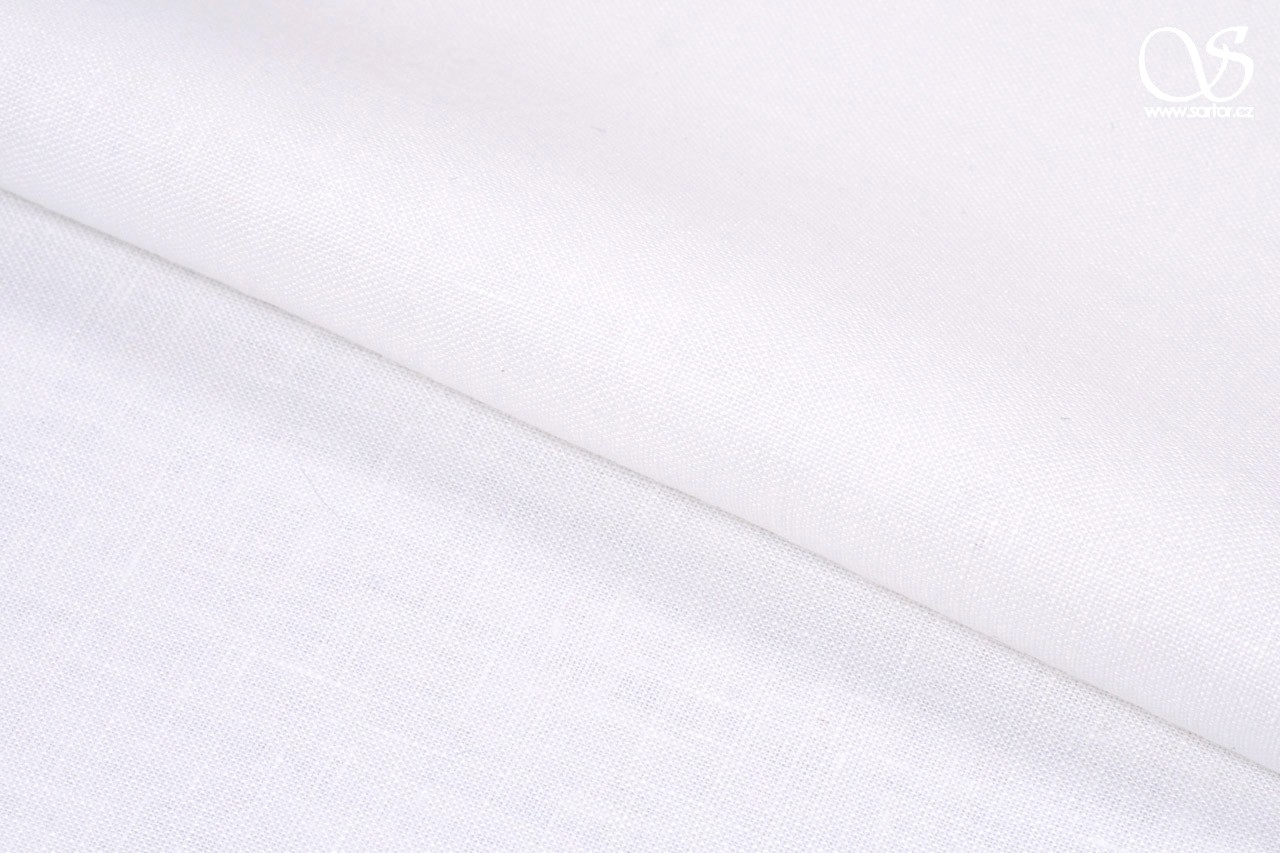 Fine linen, pure white, 1,5m, DEFECTS
