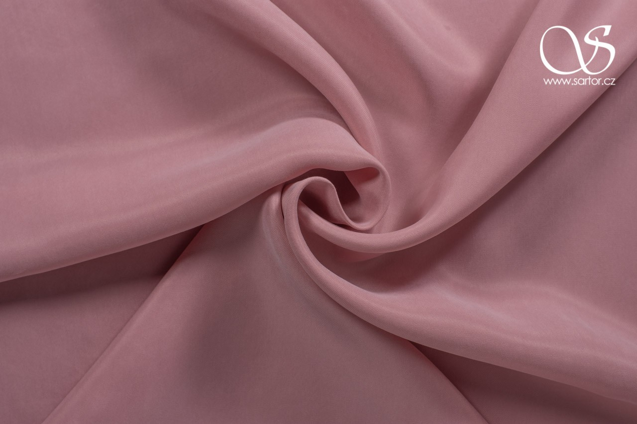 Cupro twill, light pink, 2,5m, DEFECTS