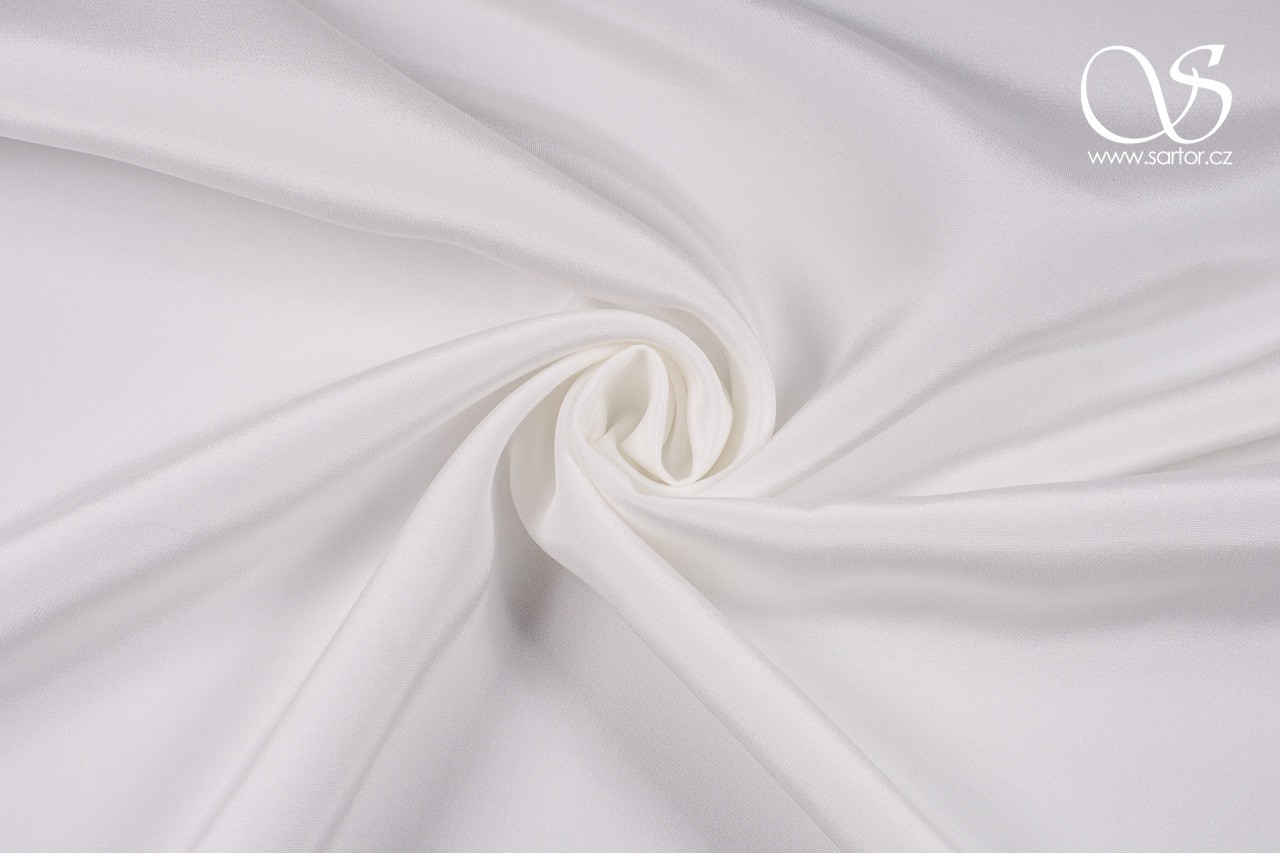 Crepe Marocain, Light Ivory, 1,2m, DEFECTS