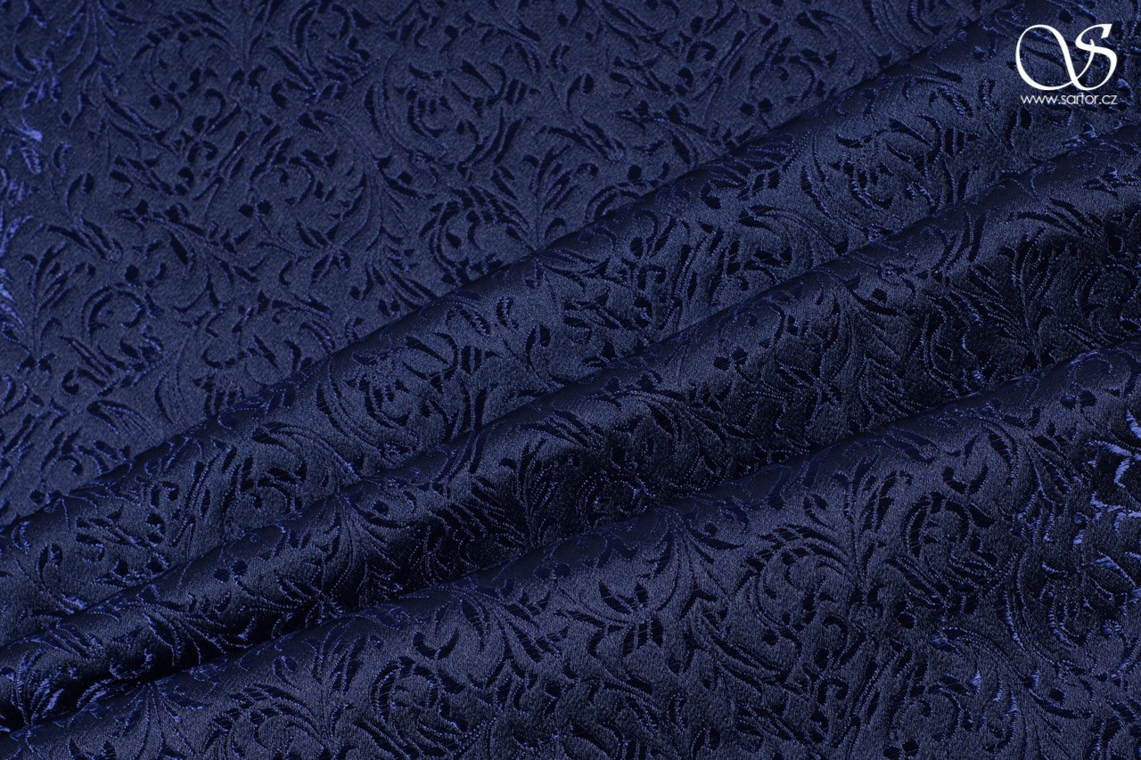 Brocade Ornaments, dark blue