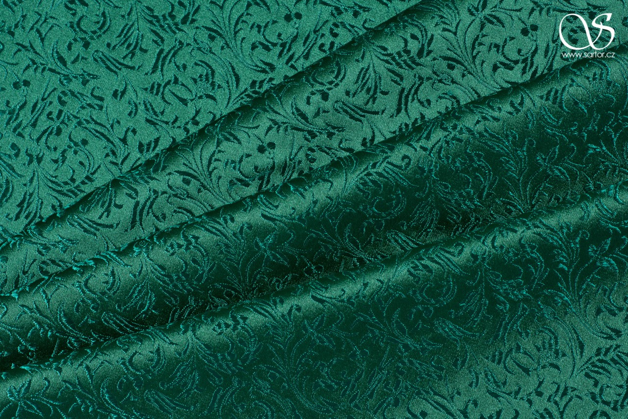 Brocade Ornaments, Green