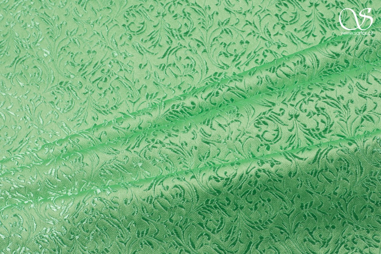 Brocade Ornaments, light green