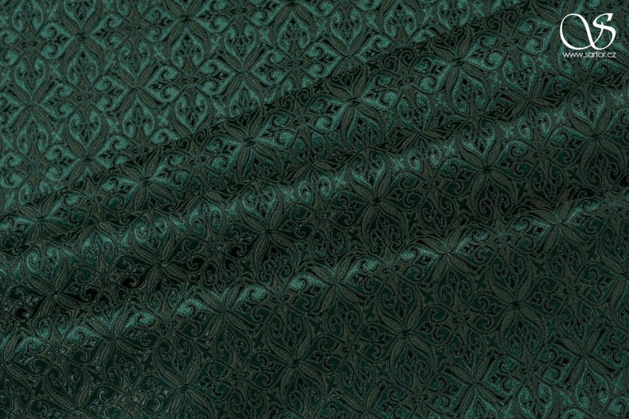 Noble Brocade, dark green