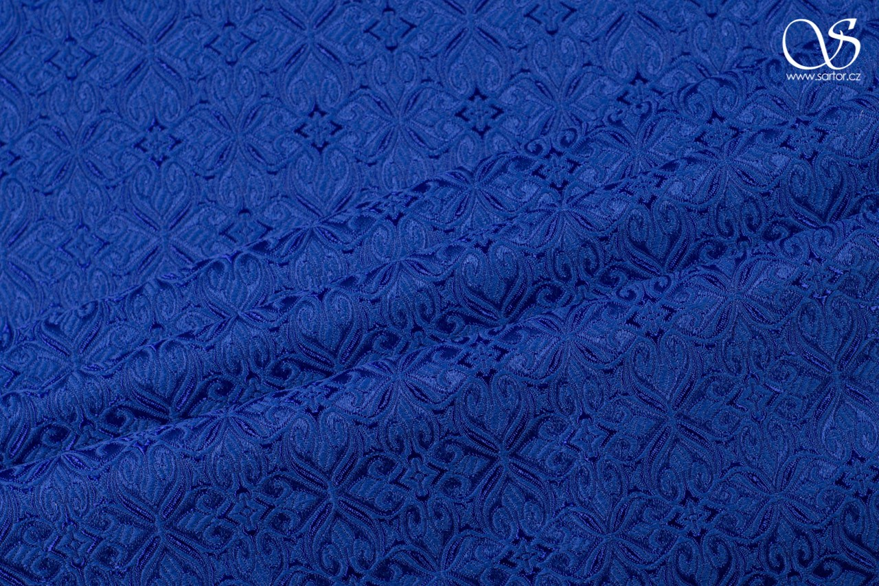 Noble Brocade, royal blue