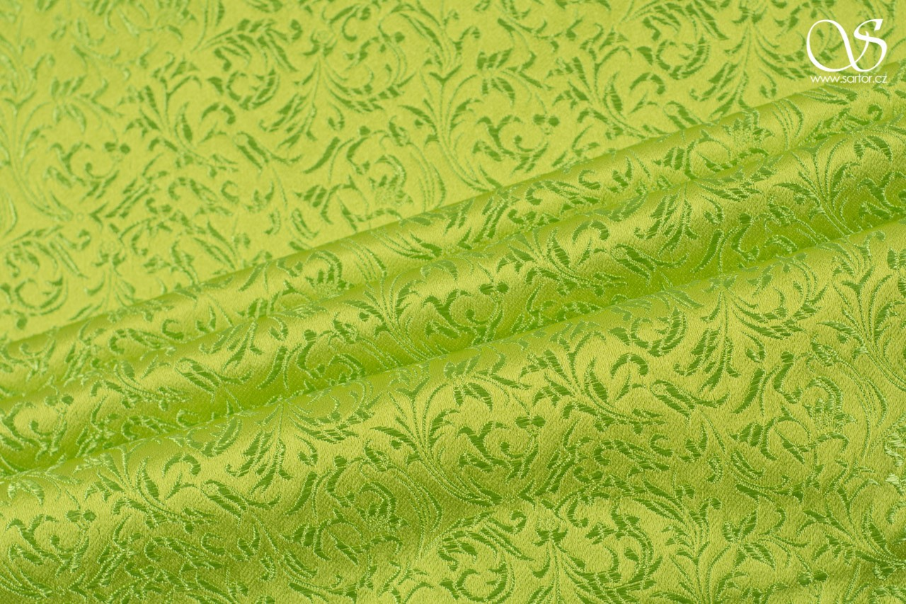 Brocade Ornaments, bright green