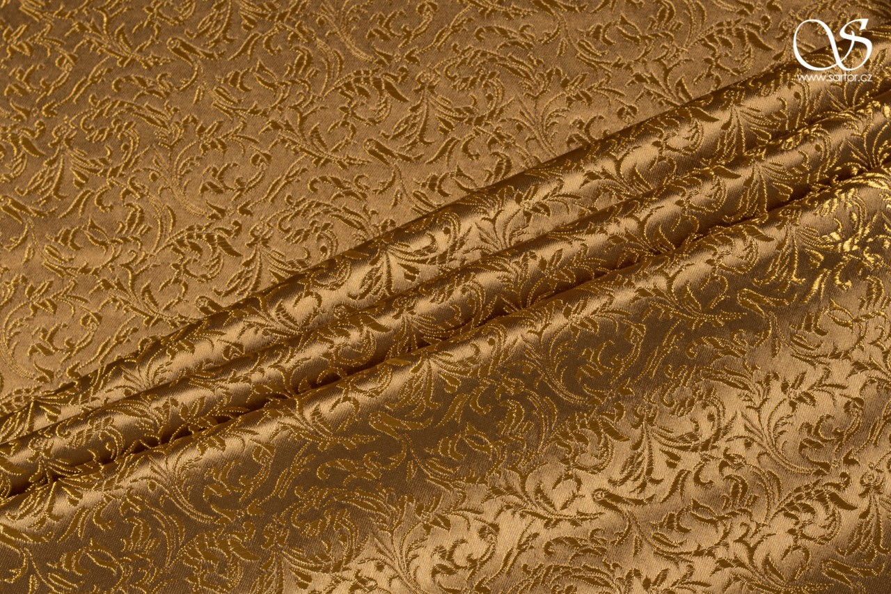Brocade Ornaments, ochre
