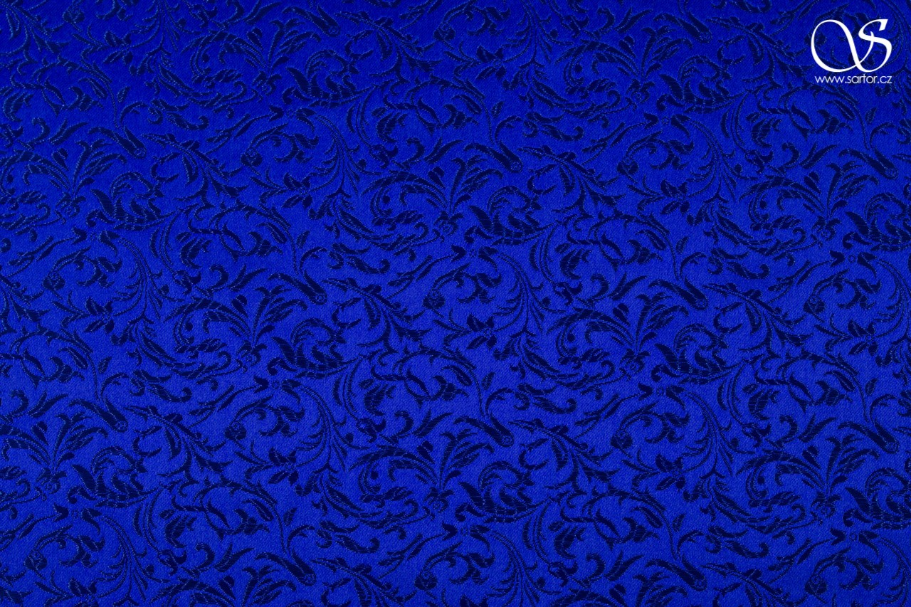 Brocade Ornaments, royal blue
